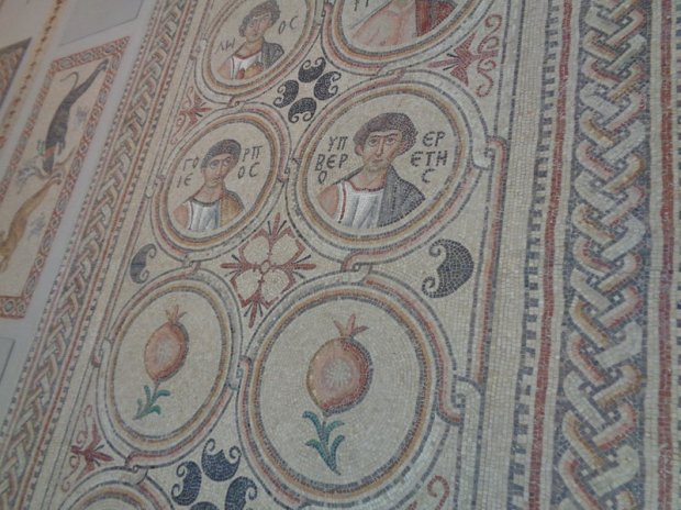 Mosaic floor from St. Christopher's, close-up view - Photo by Danielle Trynoski