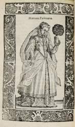 Woodcut image from Vecellio's fashion treatise, De gli Habiti Antichi e Modérni di Diversi Parti di Mondo (1590)