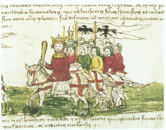 Crusaders marching to the Holy Land