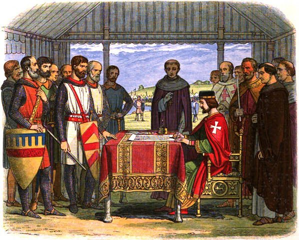 King John signs Magna Carta