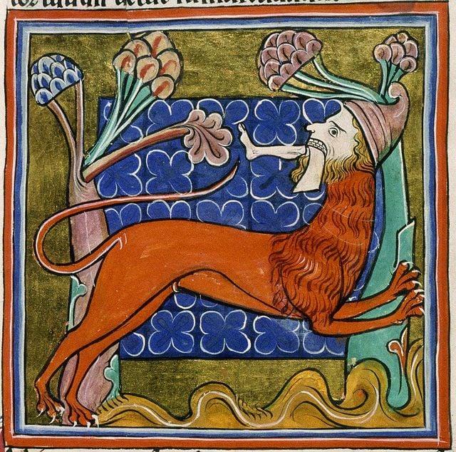 Manticore from the Salisbury Bestiary