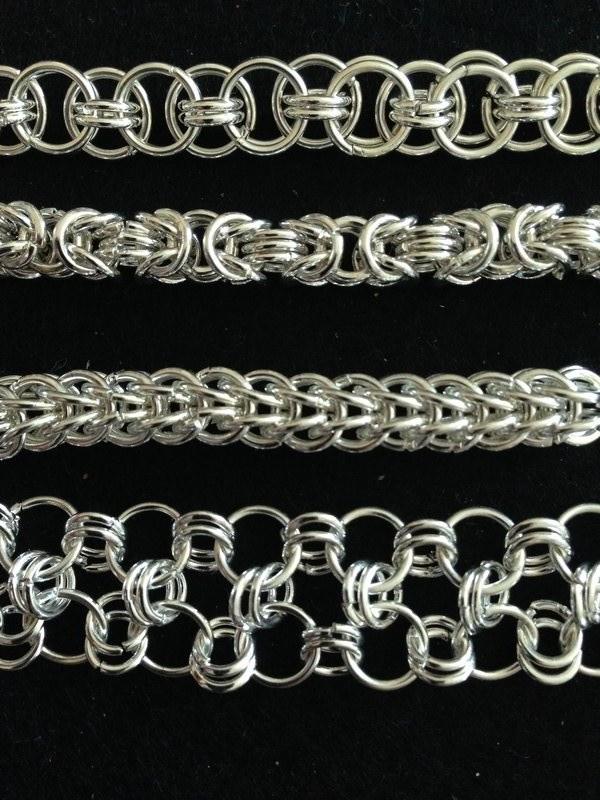 chain mail weaves - photo by Daniele Cybulskie