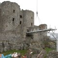New bridge installed at Harlech Castle