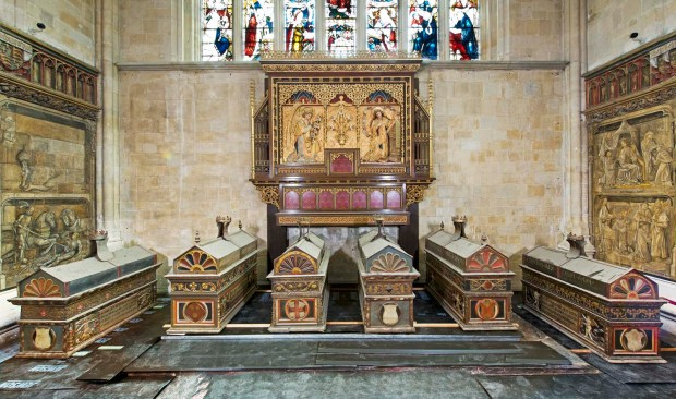 Mortuary Chests in Lady Chapel - photo courtesy Winchester Cathedral