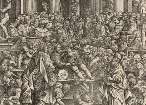 Frontispiece from De humani corporis fabrica, Basileae: 1543, by Andreas Vesalius (1514-1564