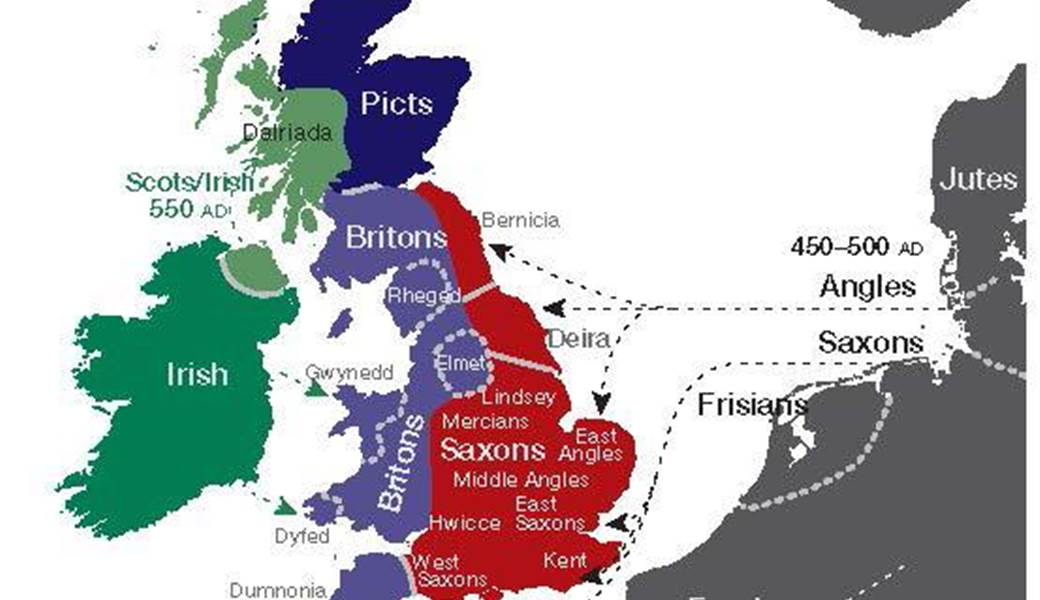 Map Of England In 9th Century.Researchers Create Genetic Map Of The British Isles