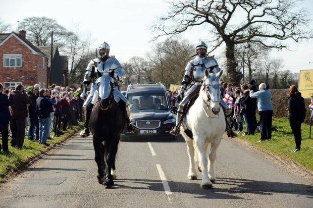 King Richard III at Market Bosworth - photo courtesy Leicestershire County Council