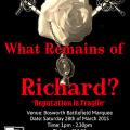 What Remains of Richard? – play to take place at Bosworth this Saturday