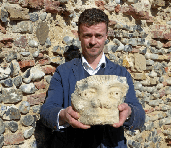 carved stone head - Photo courtesy  Great Yarmouth Borough Council