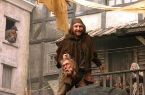Eddie Marsan as the sleazy, evil Headsman's assistant, Fabio.