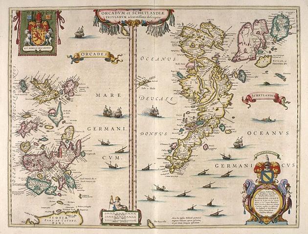 Orkney and Shetland Blaeu - Atlas of Scotland 1654