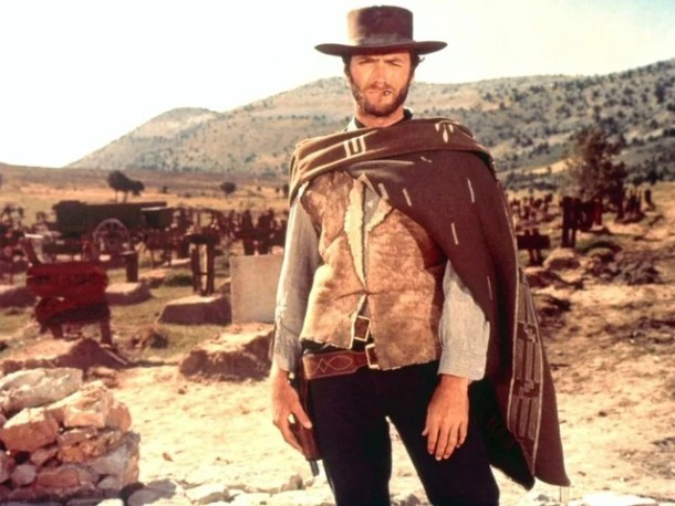 The eternal cowboy, Clint Eastwood, in the Spaghetti Western classic, 'The good, the Bad, and the Ugly' (1966)