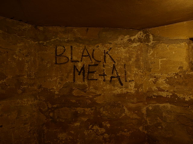 The basement of Helvete, showing graffiti from the early 1990s - Photo by Marieke Kuijjer