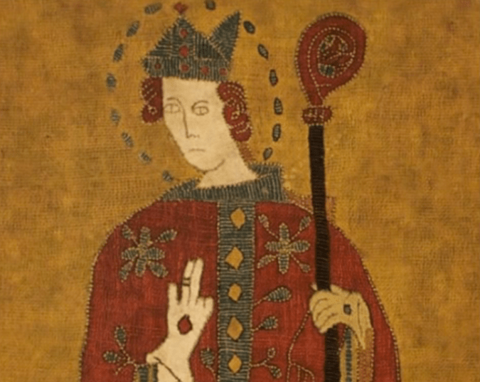 saint thorlak - 15th century image of the saint, now found in the National Museum of Iceland - photo from Youtube