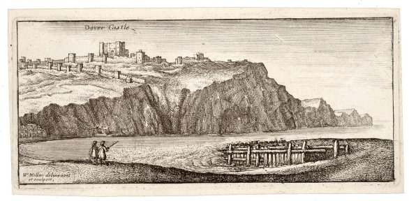 17th century drawing by Wenceslas Hollar of Dover Castle