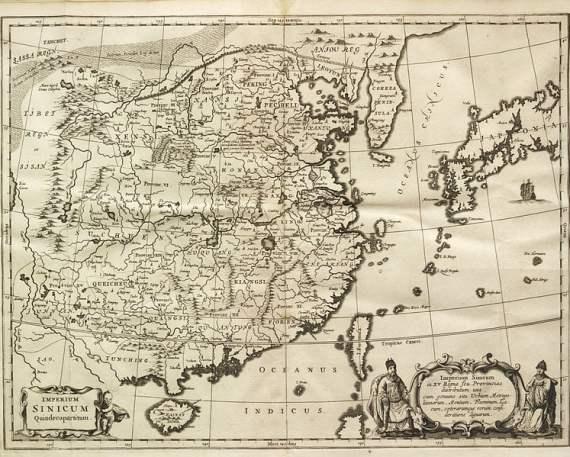 17th century Map of China