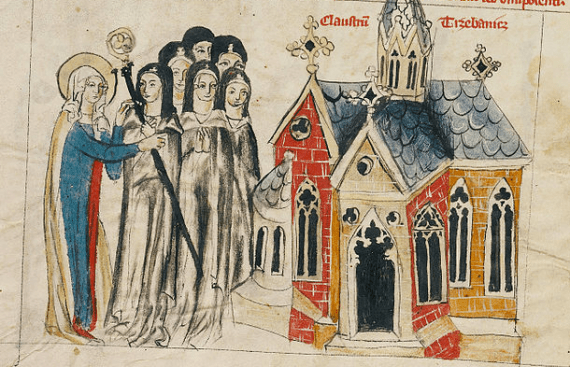 14th century image of nuns - from the Court workshop of Duke Ludwig I of Liegnitz and Brieg