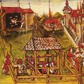 Honour, community and hierarchy in the feasts of the archery and crossbow guilds of Bruges, 1445–81