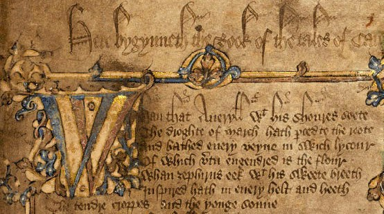 Canterbury Tales - Opening folio of the Hengwrt manuscript