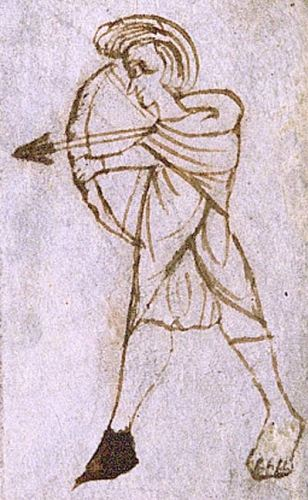 Illustration of a Welsh archer from the late 13th century