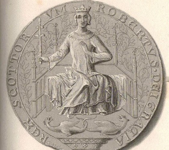 The seal of Robert II, King of Scotland.