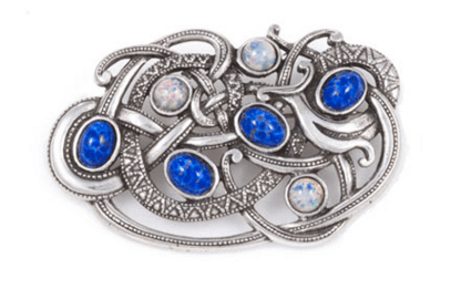 Viking opal blue brooch