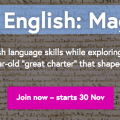 Free Online course – Exploring English: Magna Carta