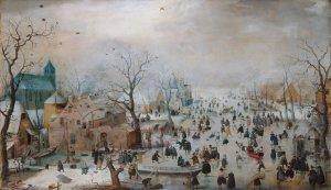Winter Landscape with Ice Skaters (1608) - Hendrick Avercamp (1585-1634).