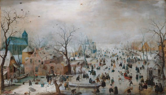 Winter Landscape with Ice Skaters (1608) - Hendrick Avercamp (1585-1634).