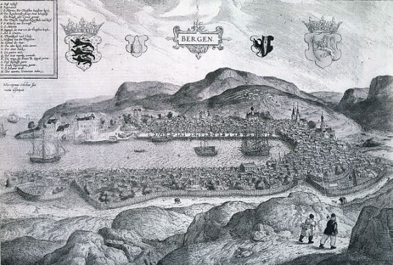 16th century view of Bergen