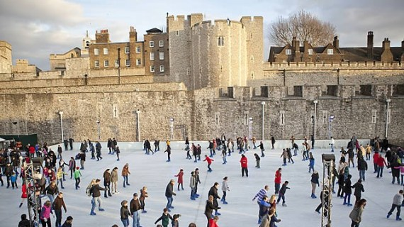 Ice Skating at the Tower of London. Photo by  www.visitlondon.com.
