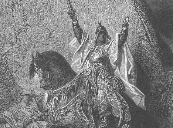 19th-century depiction of a victorious Saladin, by Gustave Doré.