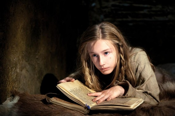 Lotte Flack portraying young Joan in Pope Joan. (Magnolia Pictures)