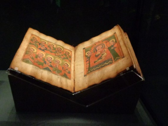 Ethiopian Manuscript. Getty Museum, Los Angeles, CA. 'Traversing the Globe Through Illuminated Manuscript'  (Photo courtesy of Dani Trynoski)