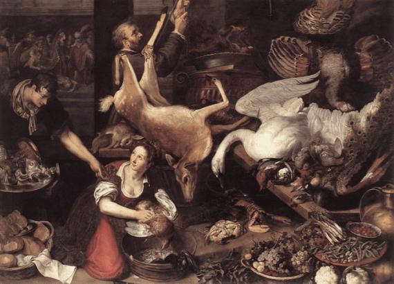 Medieval Kitchen by Adriaen van Nieulandt.
