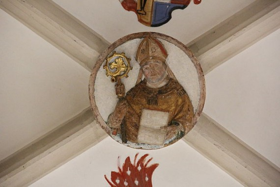 Medieval bishop depicted in Eichstätt Cathedral - photo by Mattana / Wikimedia Commons