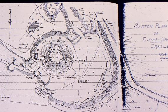 Anglo-Saxon Motte and Bailey map