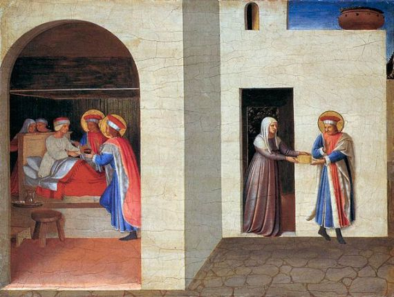 The Healing of Palladia by Saint Cosmas and Saint Damian, by Fra Angelico