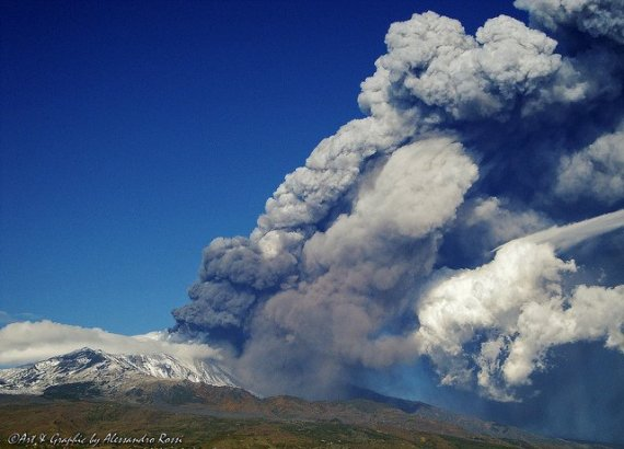 Mount Etna eruption - photo by Alessandro Rossi / Flickr