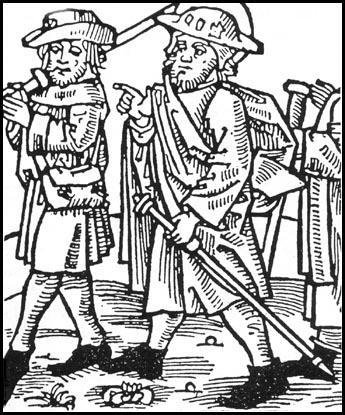 Woodcut of a pilgrimage (c.1490).