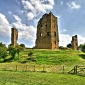 Ruined medieval castle for sale in England