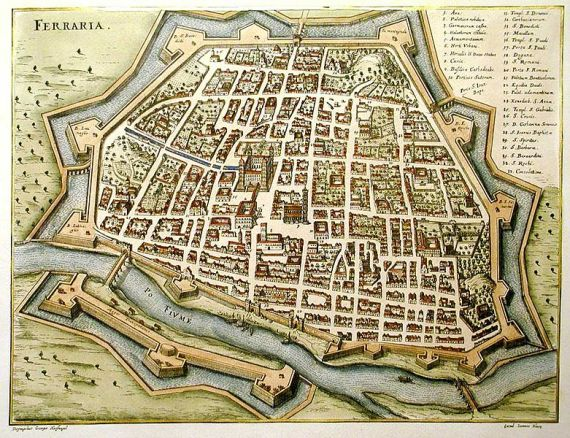 Living With Books In Renaissance Ferrara Medievalistsnet - Ferrara map