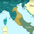 How the borders of Italy changed during the Middle Ages