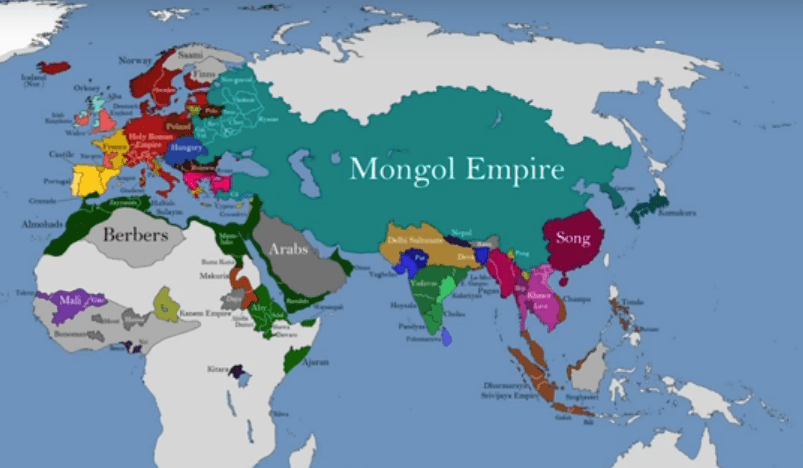 how the borders of the mongol empire changed in the middle