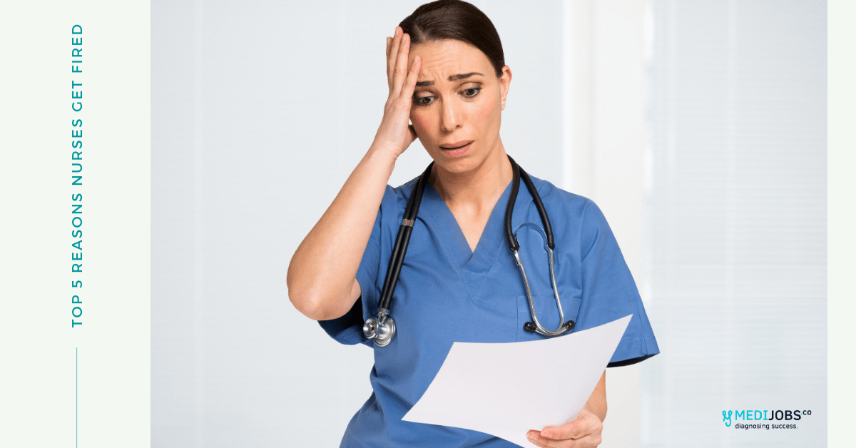 Worried Nurse looking at a paper