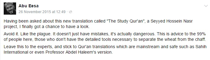 abu eesa study quran