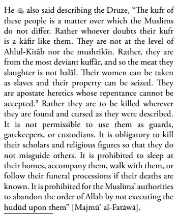 Ibn Taymiyyah  on the Druze