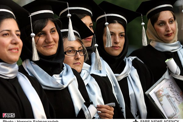 Over 60% of Students in Iranian Universities are women.