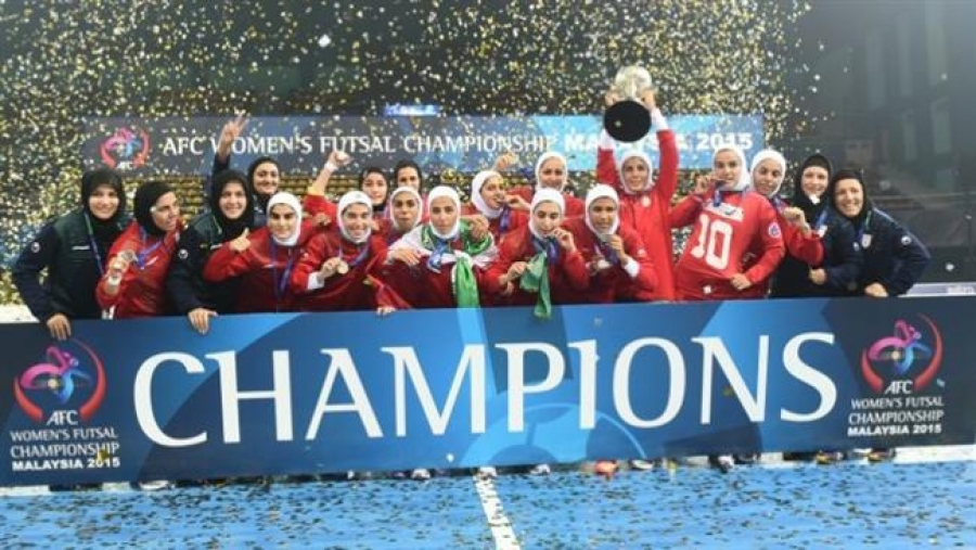 Iran ladies football team wins Asian Cup