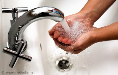 Prevention of Food Poisoning: Wash your Hands thoroughly with Soap and Water